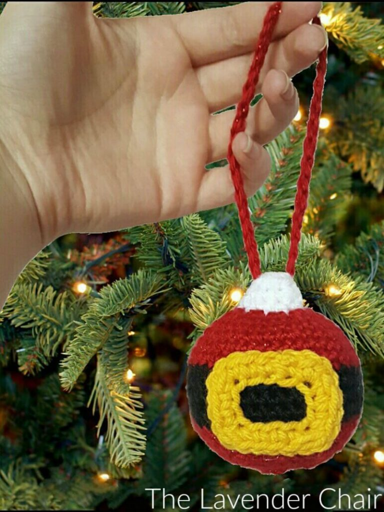 Santa's Christmas Ornament - Free Crochet Pattern - The Lavender Chair