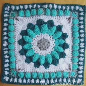 Sunshine Daisy Mandala Square Crochet Pattern