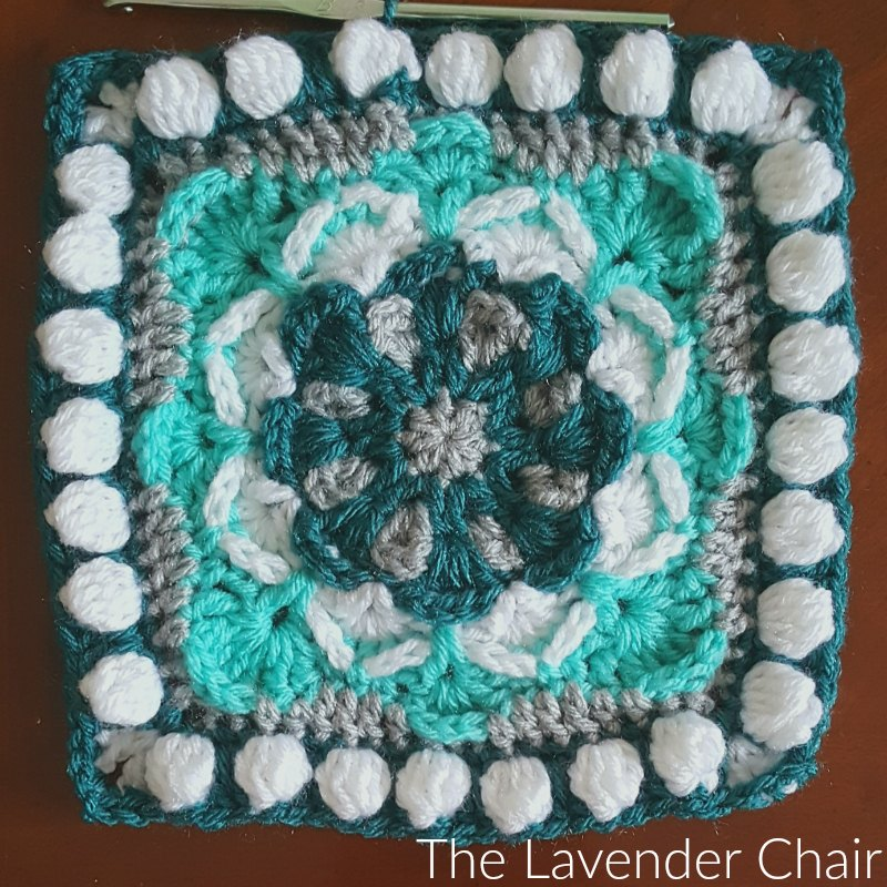 Azalea Mandala Square - Free Crochet Pattern - The Lavender Chair
