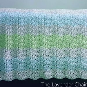 Crossed Double Ripple Afghan Crochet Pattern