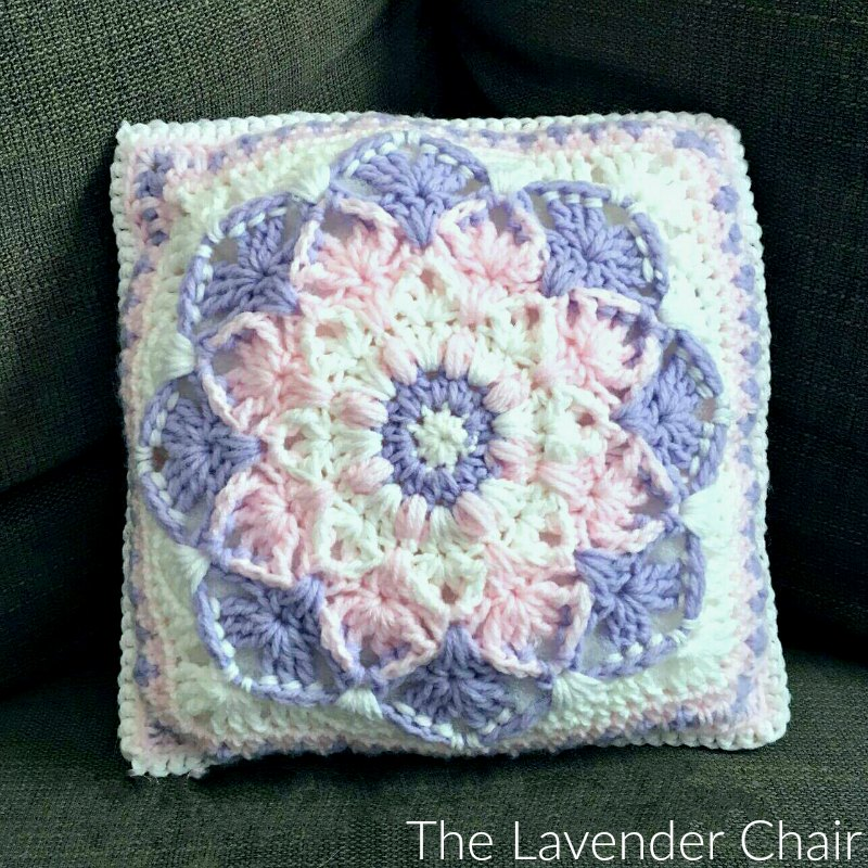 Kaleidoscope Lily Pillow - Free Crochet Pattern - The Lavender Chair