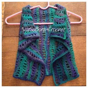 Lacy Waves Toddler Vest Crochet Pattern