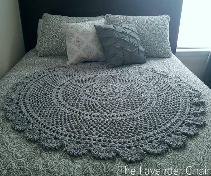 Ring Around the Rosie Mandala Blanket - Free Crochet Pattern - The Lavender Chair
