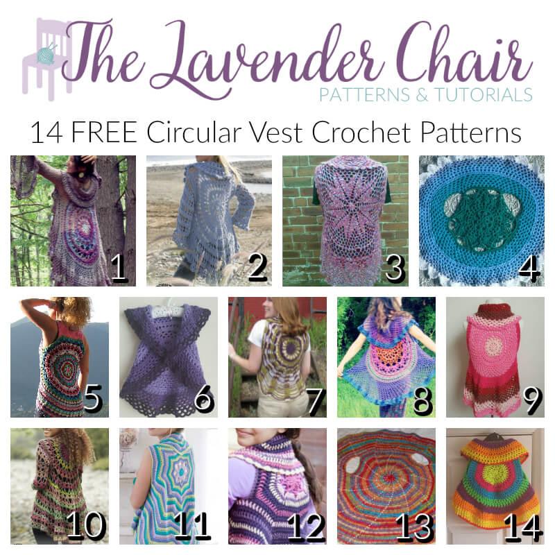 Free Circular Vest Crochet Patterns - The Lavender Chair