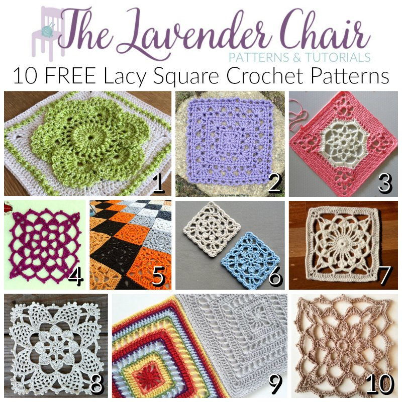 10 Free Lacy Crochet Square Patterns The Lavender Chair,How To Get Rid Of Black Ants In Car