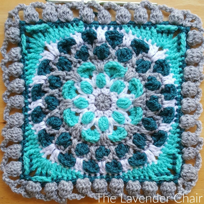 Cascading Mum Mandala Square - Free Crochet Pattern - The Lavender Chair