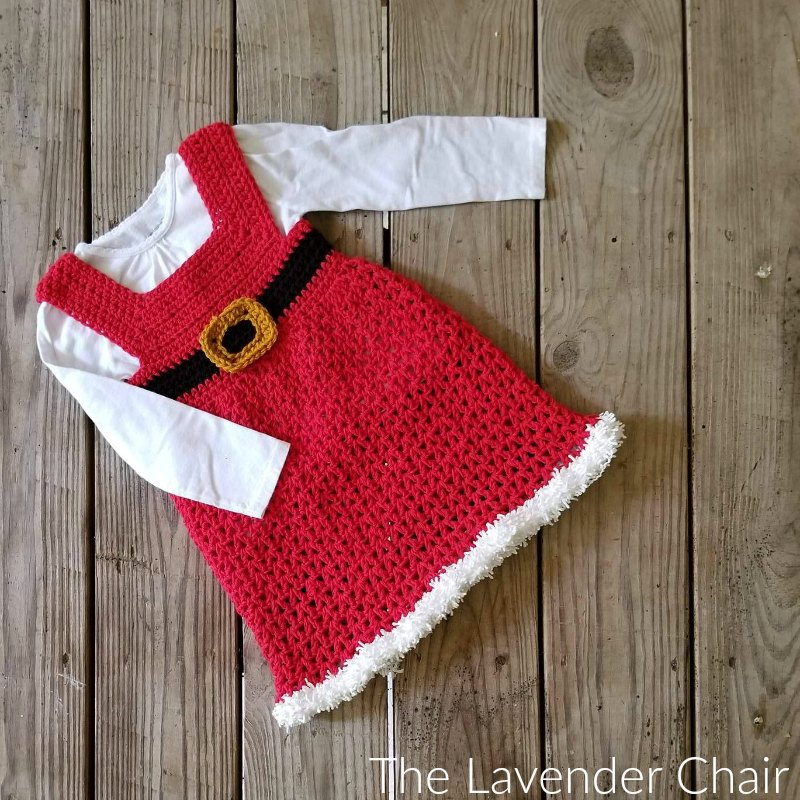 Mrs. Claus' Winter Dress - Free Crochet Pattern - The Lavender Chair