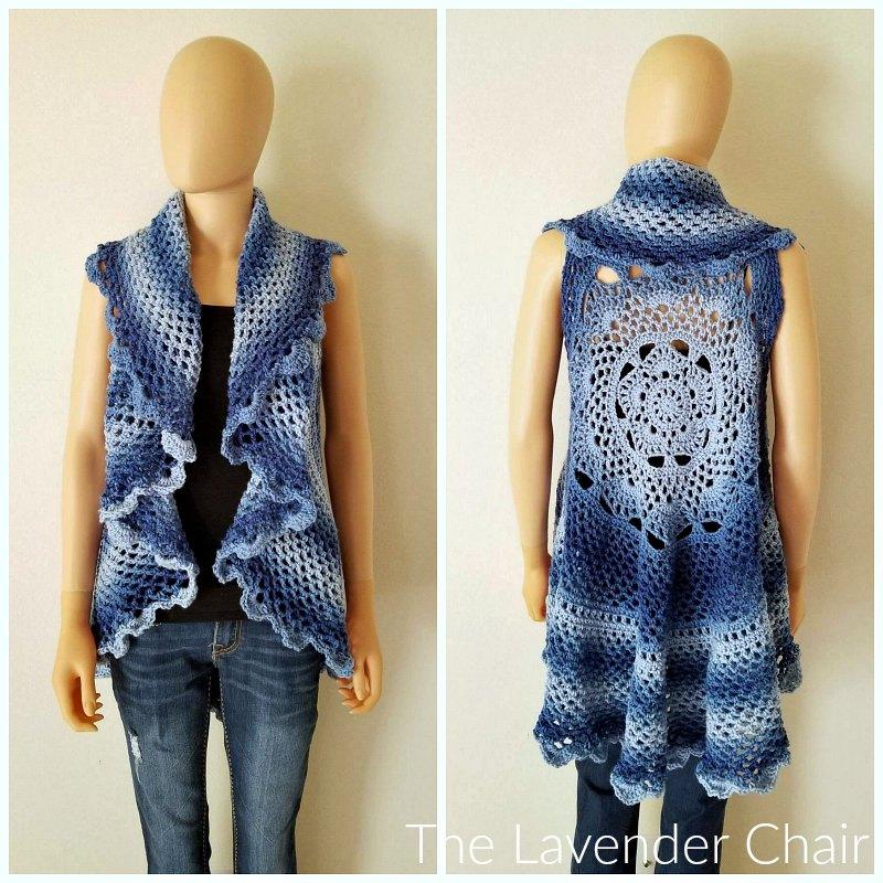 Midnight Star Mandala Vest - Free Crochet Pattern - The Lavender Chair