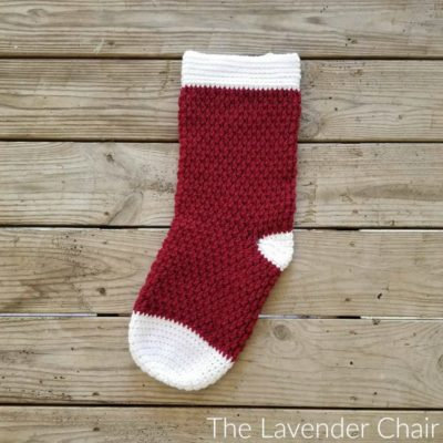 Brickwork Stocking Crochet Pattern