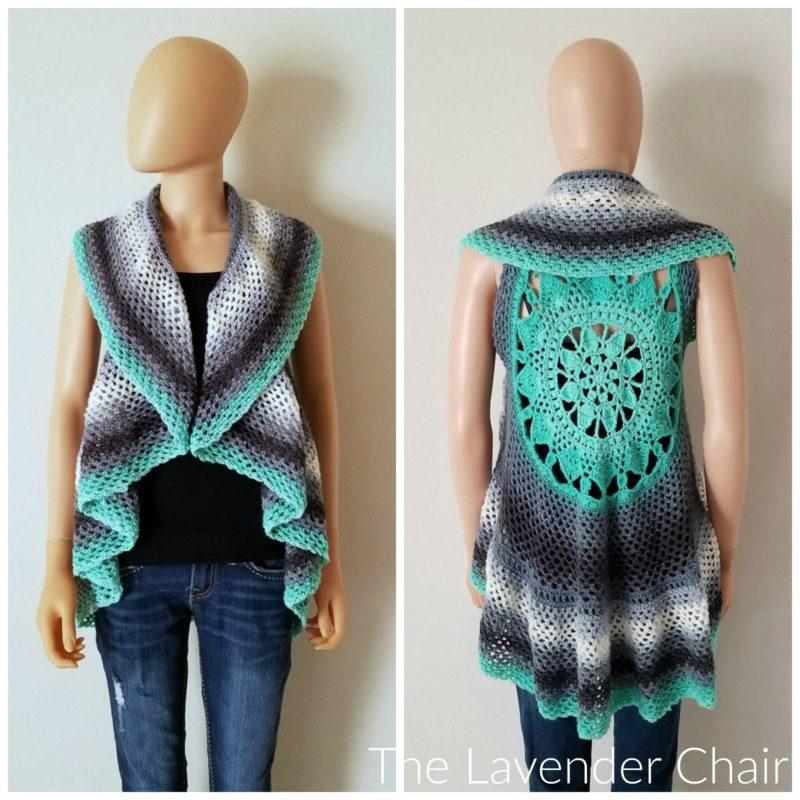 Dreamcatcher Mandala Circular Vest - Free Crochet Pattern - The Lavender Chair