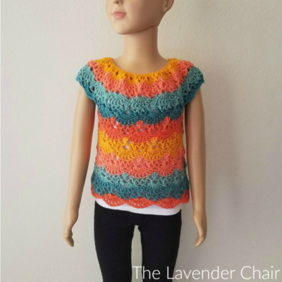 Lacy Shells Top Crochet Pattern