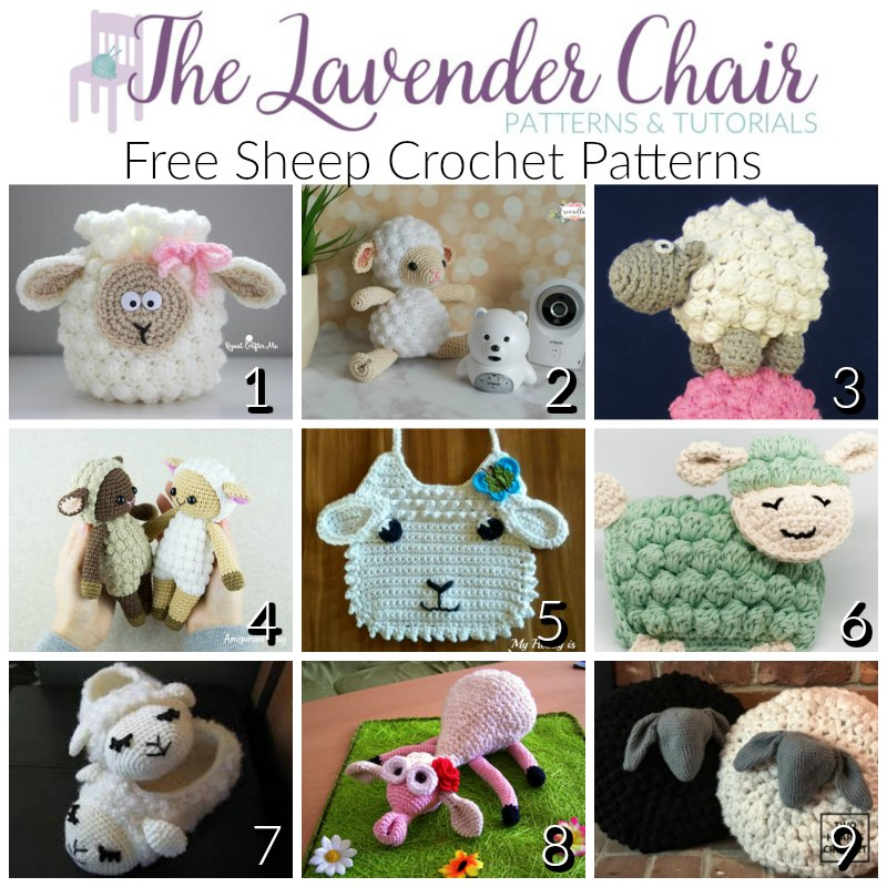 Free Sheep Crochet Patterns - The Lavender Chair