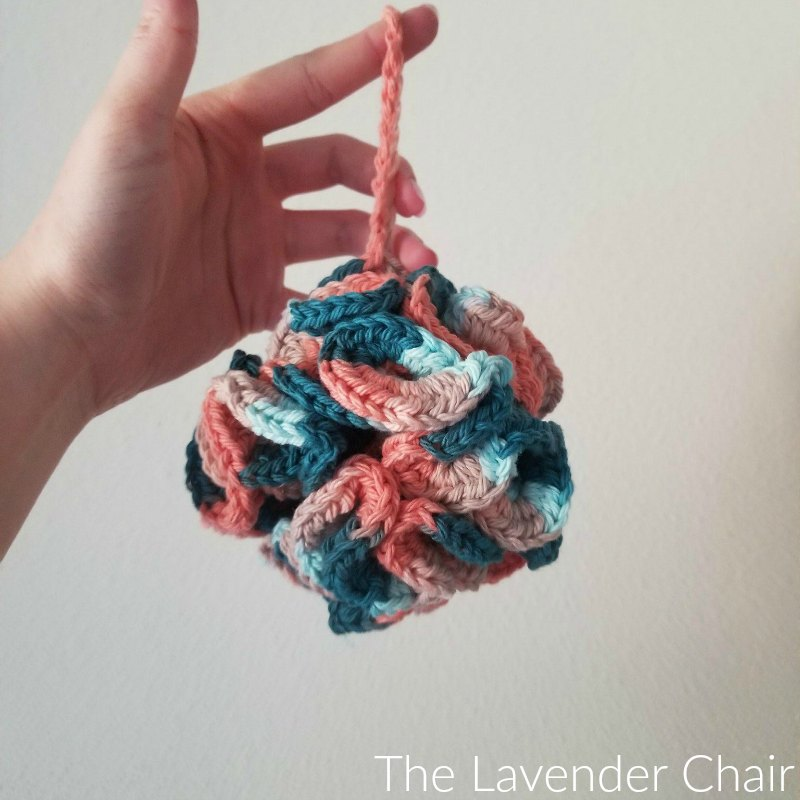 Sandstone Bath Puff - Free Crochet Pattern - The Lavender Chair