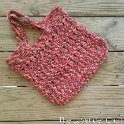 Crossed Bobble Tote Bag Crochet Pattern