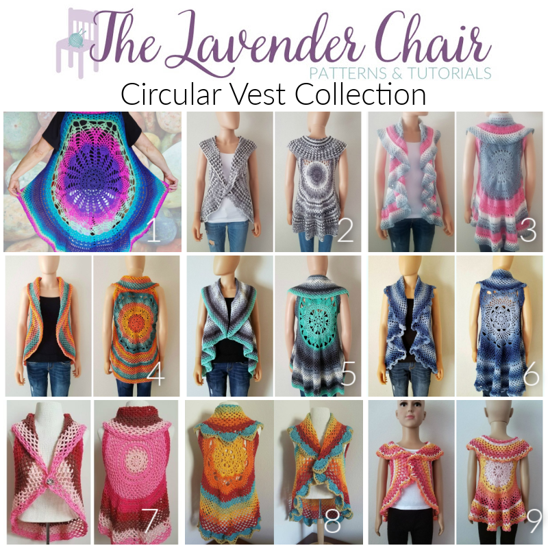 Circular Vest Collection - Free Crochet Patterns - The Lavender Chair