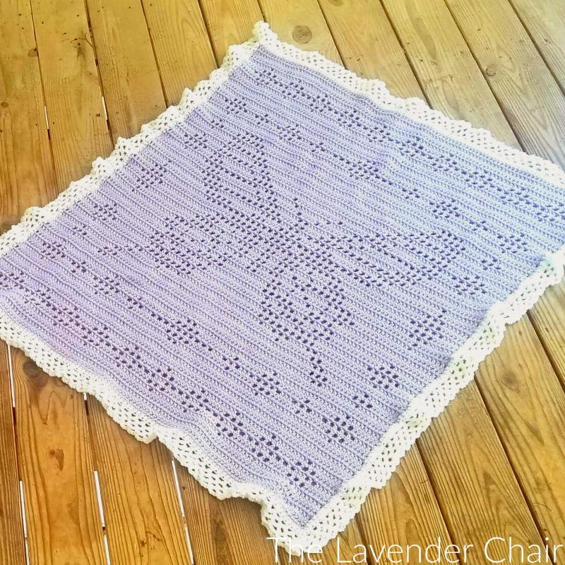 Filet Butterfly Blanket - Free Crochet Pattern - The Lavender Chair