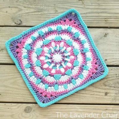 Mandala Galaxy Square Crochet Pattern