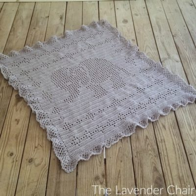 Filet Elephant Blanket Crochet Pattern