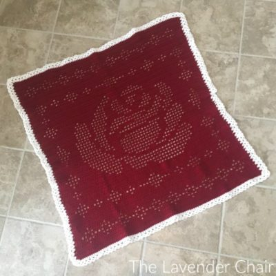 Filet Rose Blanket Crochet Pattern