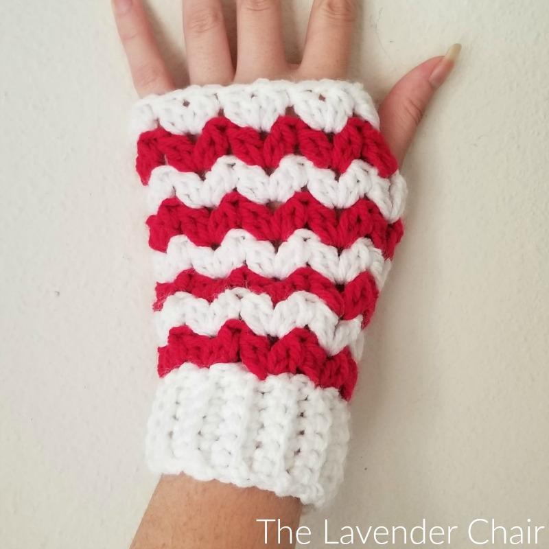 Peppermint Fingerless Gloves - Free Crochet Pattern - The Lavender Chair