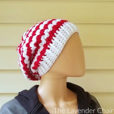 Peppermint Slouchy Beanie Crochet Pattern
