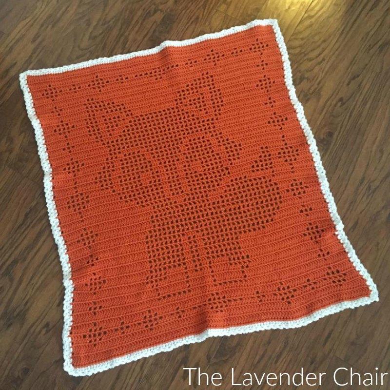 Fox Filet Blanket - Free Crochet Pattern - The Lavender Chair