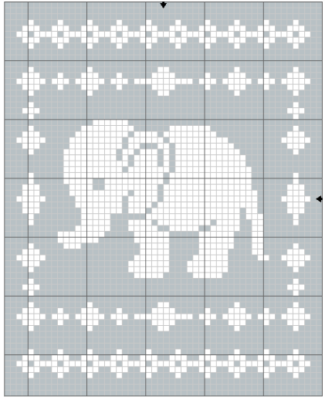 Filet Elephant Blanket Crochet Pattern - The Lavender Chair
