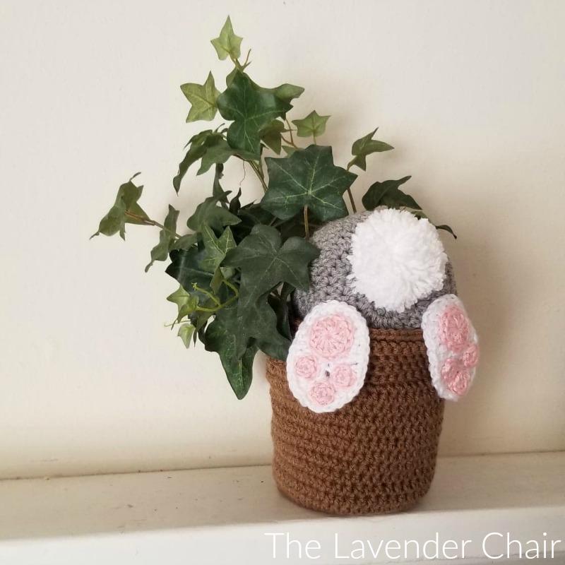 Bunny Bum Flower Pot - Free Crochet Pattern - The Lavender Chair
