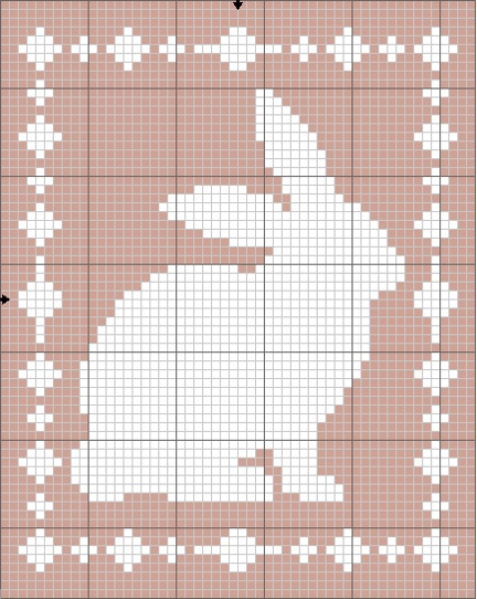 Filet Bunny Blanket Chart - The Lavender Chair