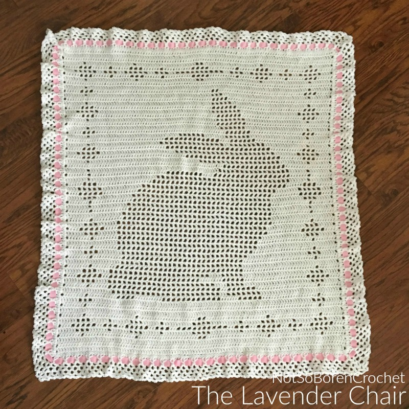 Filet Bunny Blanket - Free Crochet Pattern - The Lavender Chair
