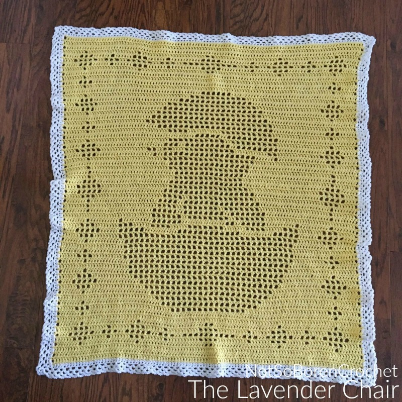 Filet Chick Blanket - Free Crochet Pattern - The Lavender Chair