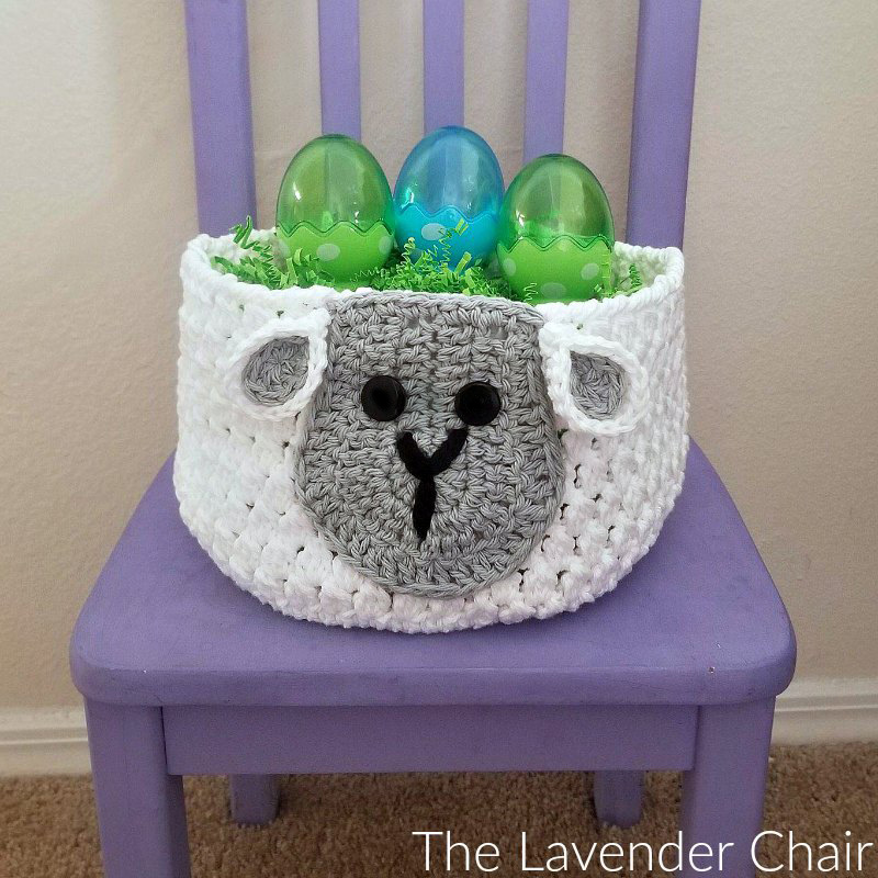 Sam Sheep Easter Basket - Free Crochet Pattern - The Lavender Chair
