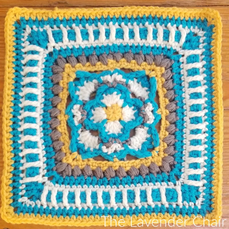 Viola's Gardenia Square - Free Crochet Pattern - The Lavender Chair