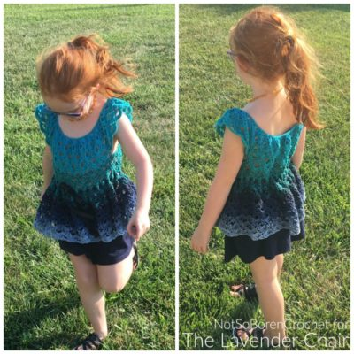 Gemstone Lace Flowy Top (Kids) Crochet Pattern
