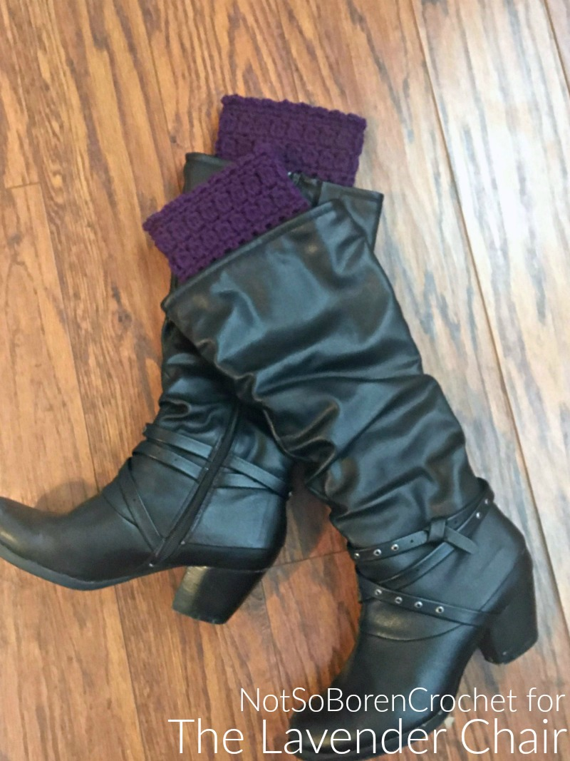 Candace's Cluster Bootcuffs - Free Crochet Pattern - The Lavender Chair