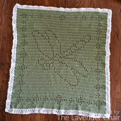 Filet Dragonfly Blanket Crochet Pattern