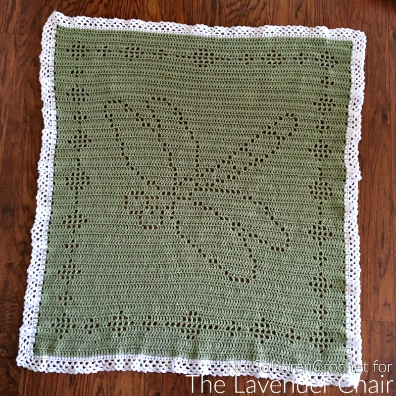 Filet Dragonfly Blanket - Free Crochet Pattern - The Lavender Chair
