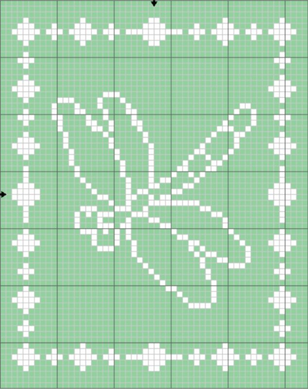Filet Dragonfly Blanket Graph - The Lavender Chair