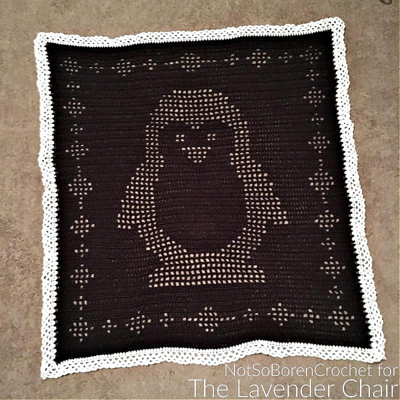 Filet Penguin Blanket - Free Crochet Pattern - The Lavender Chair
