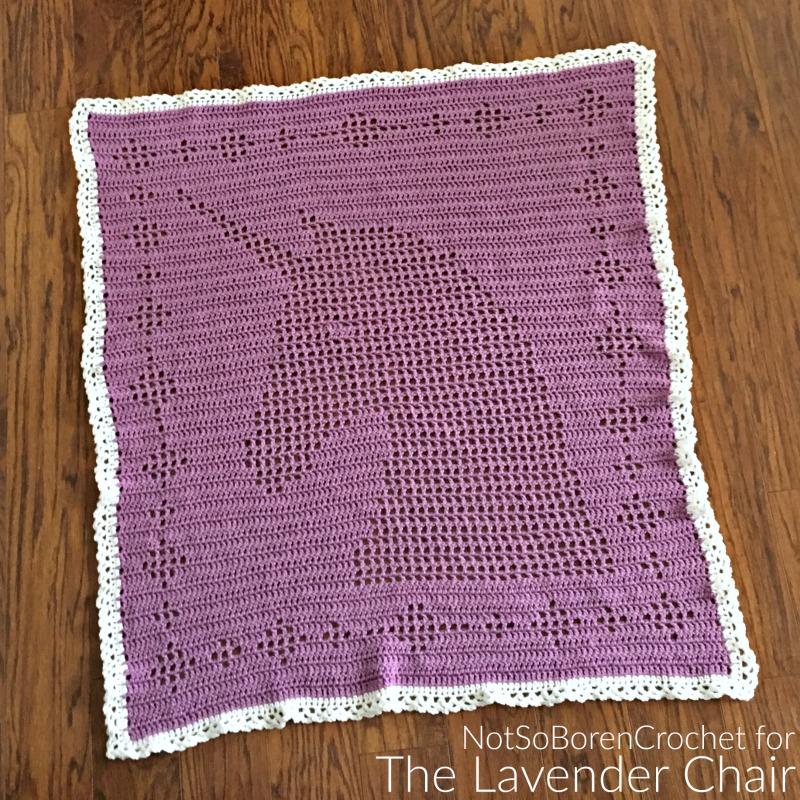Filet Unicorn Blanket - Free Crochet Pattern - The Lavender Chair