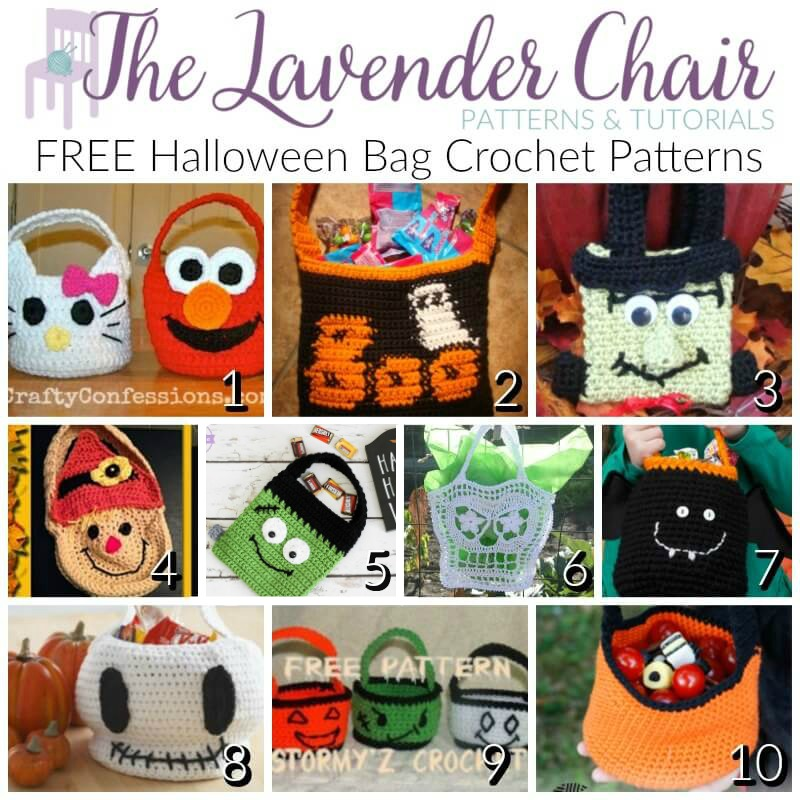 Free Halloween bag Crochet Patterns - Free Crochet Patterns - The Lavender Chair