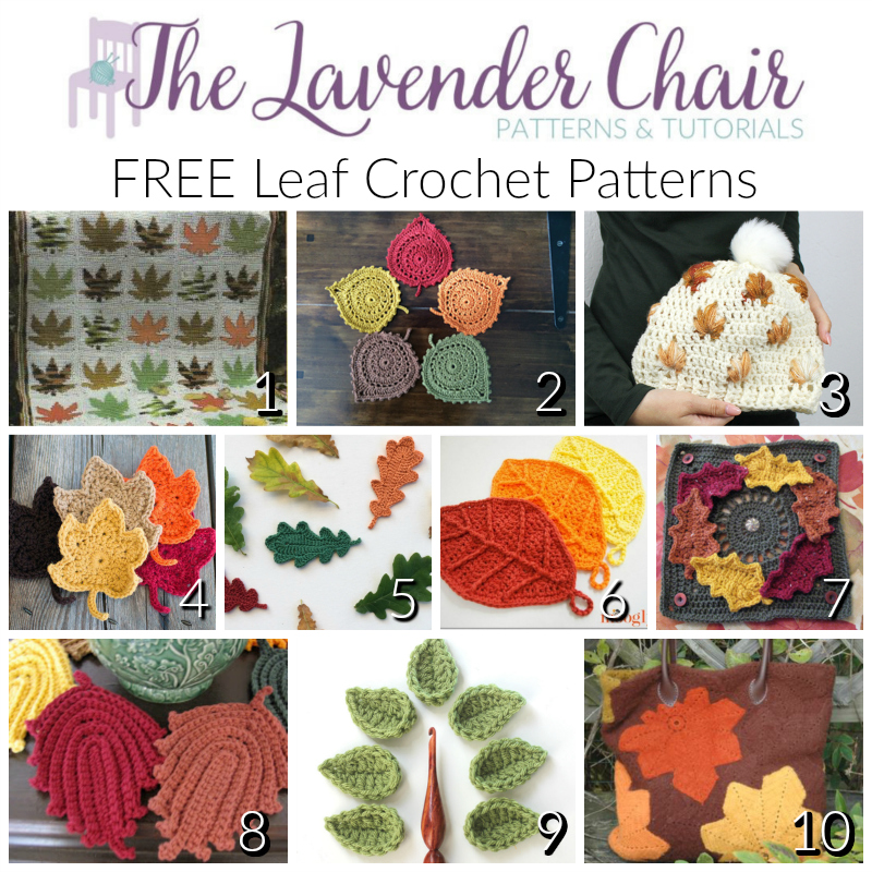 Free Leaf Crochet Patterns - The Lavender Chair