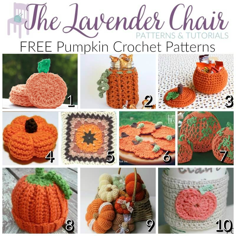 Free Pumpkin Crochet Patterns - The Lavender Chair