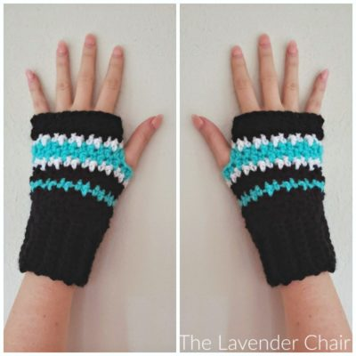 Houndstooth Fingerless Gloves Crochet Pattern