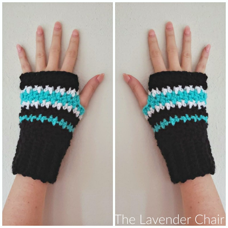 Houndstooth Fingerless Gloves - Free Crochet Pattern - The Lavender Chair