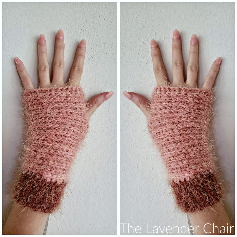 Samantha Fingerless Gloves - Free Crochet Pattern - The Lavender Chair