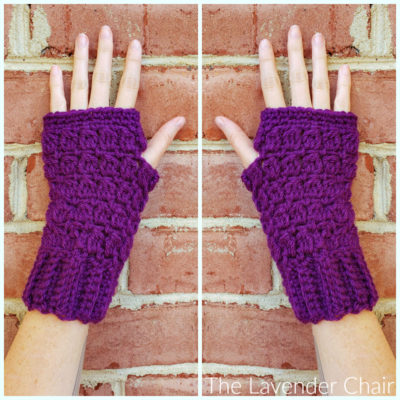 Candace's Cluster Fingerless Gloves Crochet Pattern
