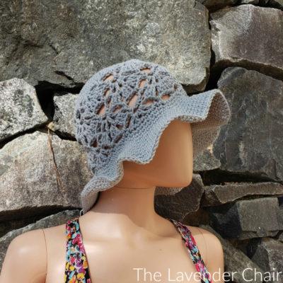 Falling Fans Sun Hat (Adult) Crochet Pattern