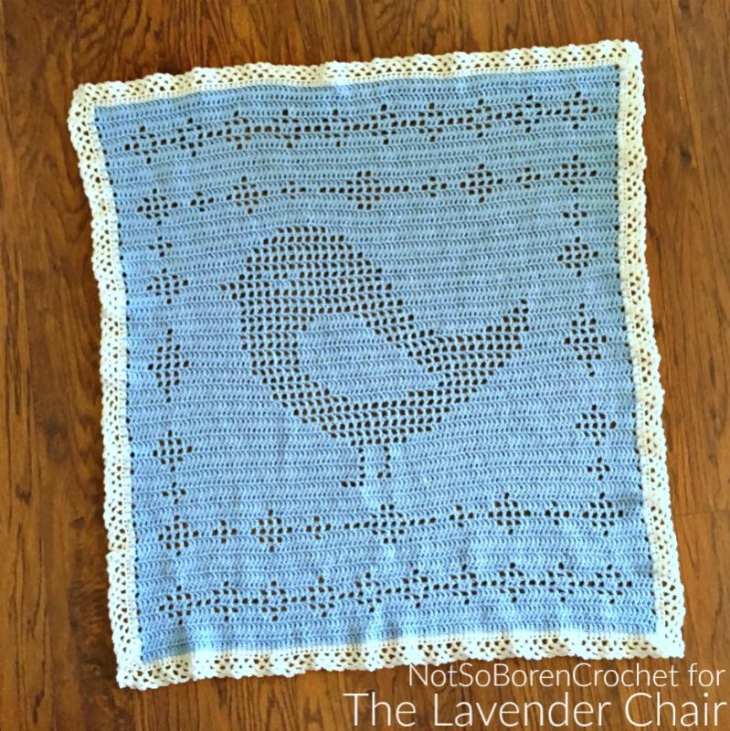 Filet Birdie Blanket - Free Crochet Pattern - The Lavender Chair