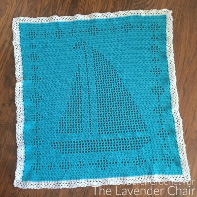 Filet Sailboat Blanket Crochet Pattern